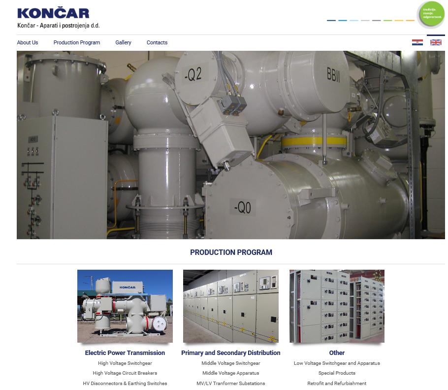 Production Program • KONČAR Switchgear Inc
